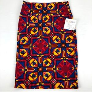 Lularoe Cassie Abstract Pencil Skirt - Small NWT